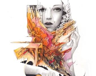 Anten Nas - original artwork - 9x12 - Reece Hobbins  - FREE SHIPPING WORDWIDE