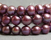 Near Round Potato Purple Color Freshwater Pearl Loose Pearl Beads 7.5-8.5mm 46cs Full Strand Item No : PL2184
