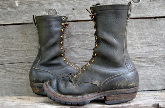 vintage whites spokane smokejumper lineman work boots size 9 5