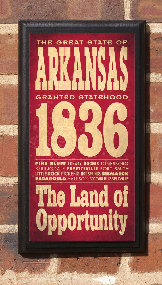 Arkansas AR Wall Art Sign Plaque Gift Present Personalized