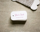 Personalized Gift Tags in Raspberry - Wedding Favor Tags - Thank you tags - Hang tags - Set of 40 (Item code: J311)