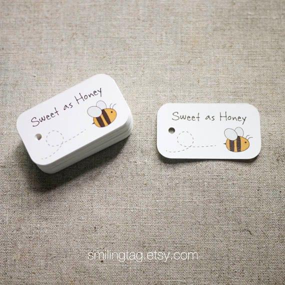 Wedding Favor Honey Tags : as Honey Gift TagsHoney Wedding Favor TagsThank you tags- Honey ...