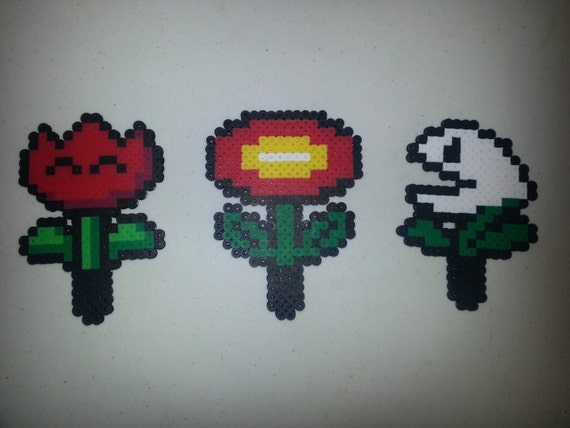 Bright Mario Plants - Fire Flower or Nipper Plant