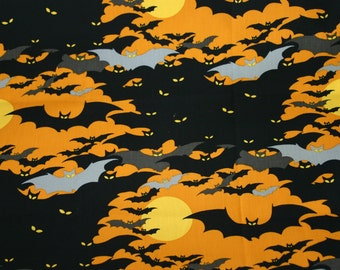Halloween Print - Alexander Henry Midnight Colony by the Yard