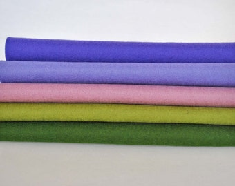 100% Wool Felt Sheets - 'Wisteria Lane' - merino wool felt