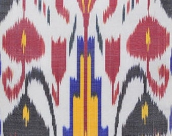 Sale! Blooming Tulips - Ikat Fabric - F-A335