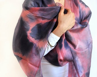 Summer Eclipse Ikat Silk Scarf - 6004. Free Shipping on orders 100 dollars and up (USA). Coupon Code: USFREESHIPPING