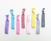 Chevron hair ties, Elastic hair ties