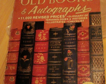 1983 Old Books Price Guide Reference Autographs Illustrated Paperback