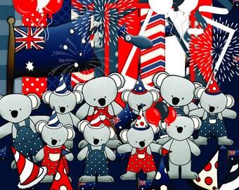 Koala Scrapbook, Australia Scrapbook, Aussie scrapbook, Animal Scrapbook, Celebrations scrapbook, Digital scrapbook, Journal Clipart,