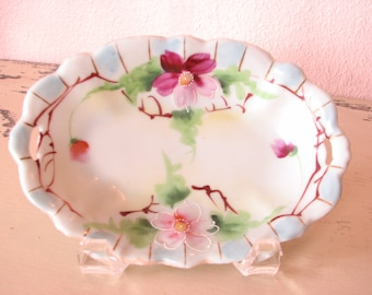 Olive Dish Hand Painted Marked Japan