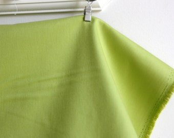 Wide Solid in Kiwi in Cotton Sateen from the Bekko Collection  by Michael Miller Fabrics - ONE YARD CUT