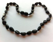 """GENUINE Baltic Amber Baby Teething Necklace - Cherry Baltic Amber Beads- (13"""") - SHIPS FREE with another item"""