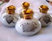 "Vintage 60's ""BiRD CAGE DESIGNS""  Porcelain Petite Salt & Pepper Shakers"