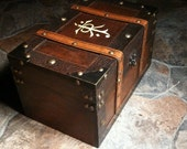 DEFECT ITEM***JRR Tolkien inspired Large Keepsake Box Chest - The Hobbit - Lord of the Rings box wood burned