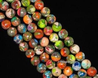 6mm Imperial Jasper Gemstone Grade AA Rainbow Round Loose Beads 16 inch Full Strand (90143653-170)