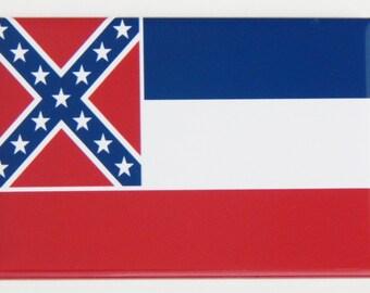 Mississippi State Flag Fridge Magnet (2 x 3 inches)