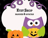 Pumpkin Owl ETSY LOGO with FREE matching avatar