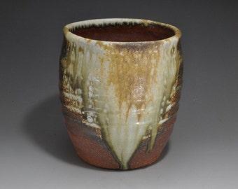 Shigaraki, anagama, ten-day anagama wood firing, with natural ash deposits bowl. bowl-41