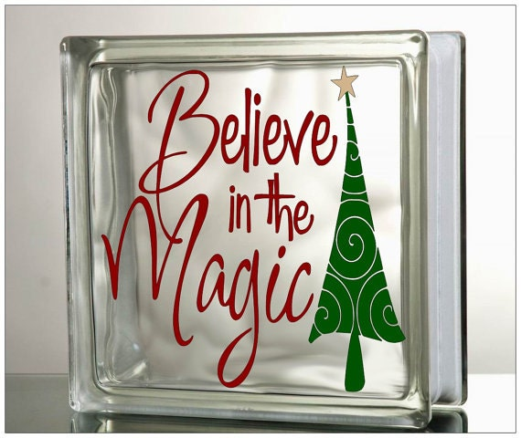 How To Decorate Glass Blocks For Christmas