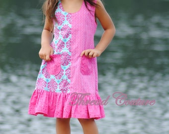 Kids Dress Pattern, Girls Dress  Sewing Pattern , Brianna Paneled Sundress, INSTANT DOWNLOAD, Girls Dress Pattern