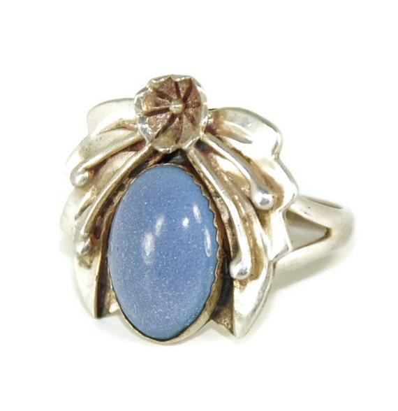 Lapis Ring Native American Indian Navajo Sterling Vintage