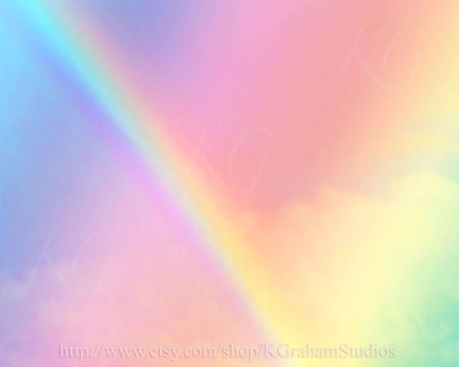 Instant Download 499 RAINBOW SKY Pastel Altered Photography