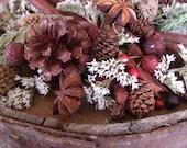 Montana christmas potpourri fixins handmade rustic mountains cabin decor woods pine cones home fragrance gifts Montana made