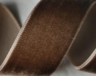 Brown Velvet Trim 7/8 inches wide - 3 Yards