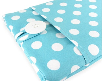 MacBook Air Case, MacBook Air Sleeve, MacBook Air 13 Case, MacBook Air 13 Sleeve, 13 Inch MacBook Air Sleeve - Aqua Polka Dot
