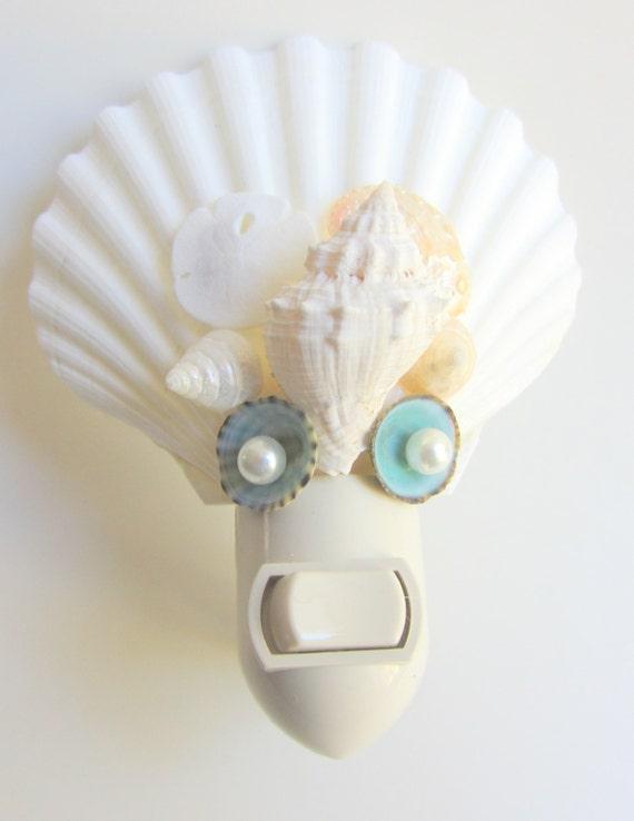 how to make seashell night light