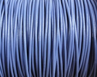 1mm Periwinkle Purple Leather Cord Round  - 1.0mm leather cord
