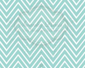 8ft x 6ft Vinyl Photography Backdrop / Light Blue Chevron Zigzag