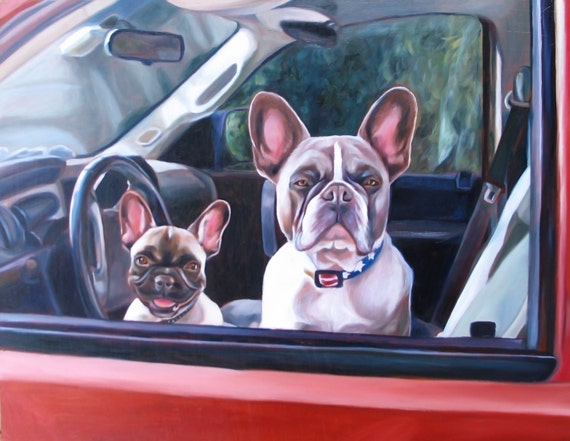 Custom Pet Portrait - Dog Portrait - Oil Painting - Perfect Gift - BullDog