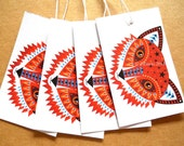 Fox swing tags pack of 4 fox gift tags