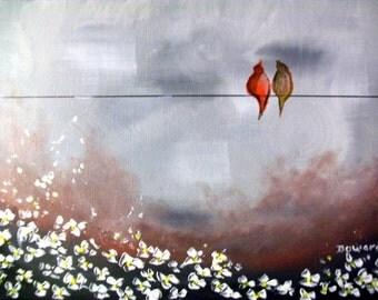 Love Birds art Painting