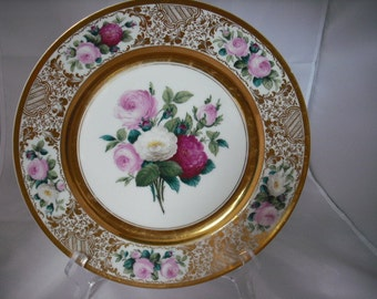 Floral Dresden Cabinet Plate