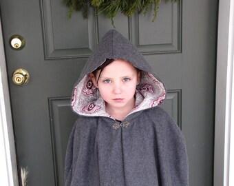 Girls Fleece Cloak size 7 or 8