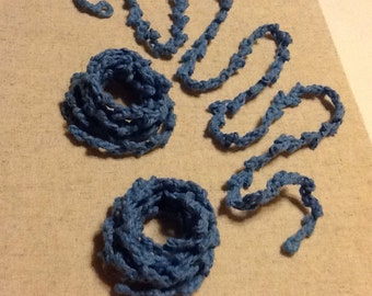 Twisted Handmade Crochet Necklace
