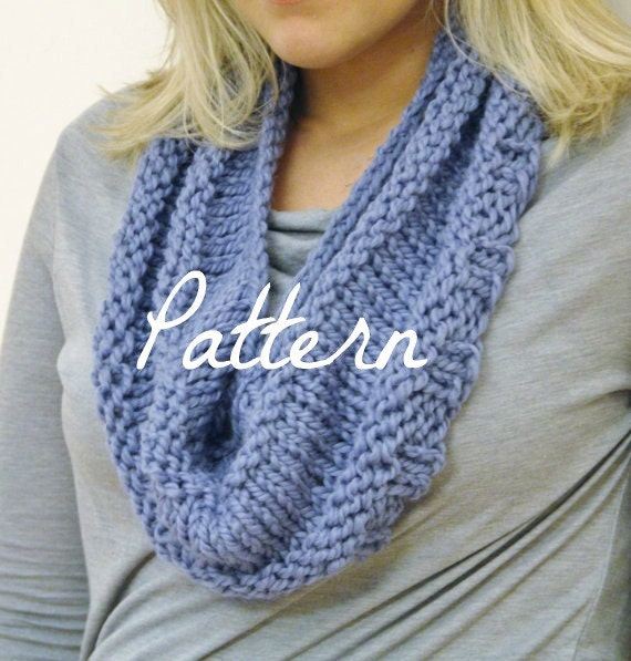 Knit Pattern Cowl Neck Warmer : Neck Warmer Knitting PATTERN Textured Loop Scarf by CuddleMeKnits