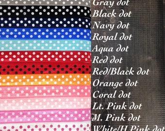 5 Yards Polka Dot Shiny Elastic FOE - You choose colors