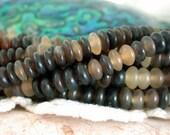 """8"""" Strands ~ Horn Beads, Natural Undyed Horn Rondelles, Recycled Beads, Natural Beads NAT-073"""