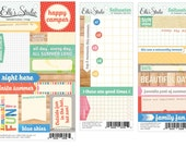 Elle's Studio Saltwater Cutouts & Lil' Snippets - 3 sheets -- MSRP 3.00