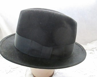 1950-70's Male Black Felt Hat by KIMBALL