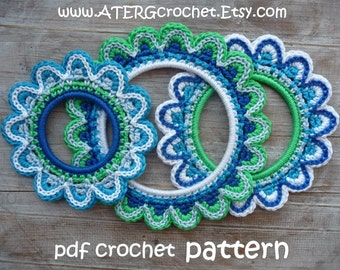 Crochet pattern FLOWER FRAMES by ATERGcrochet