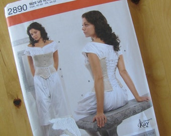 Uncut Simplicity 2890 Misses Drawers, Chemise and Corset - Size 16-24