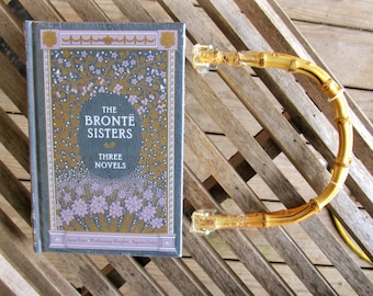 The Bronte Sisters - Three Novels - Leather Book Purse - Made to Order