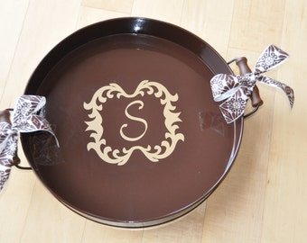Personalized Serving Tray/ Monogram Tray/ Serving/ Tray