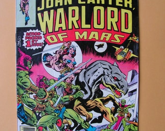 John Carter Warlord of Mars - Issues 1 - 10.  Marvel Comics  - 1970s