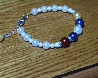 MOTHER'S DAY! Mother's or Grandmother's Pearl/Birthstone Bracelet - Designed for Each Individual